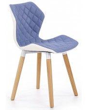 Krzesło drewniane Kilmer - niebieskie w sklepie Edinos.pl