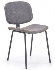 Krzesło industrialne Terrin - popielate w sklepie Edinos.pl