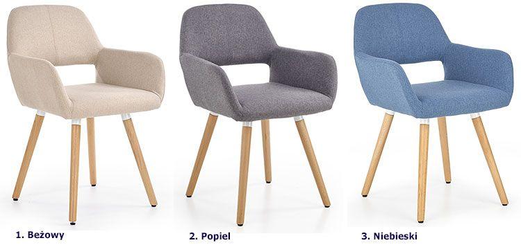 Krzesło tapicerowane Odeon niebieskie kup online | eMAG.pl