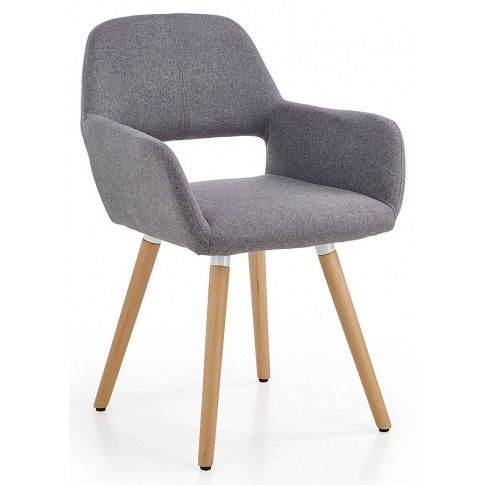 Zdjęcie produktu Drewniane krzesło z podłokietnikami Odeon - popiel.