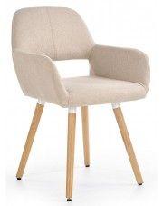 Krzesło tapicerowane Odeon - beżowe w sklepie Edinos.pl