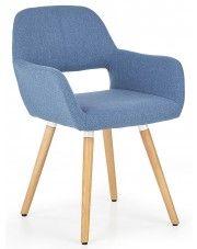 Krzesło tapicerowane Odeon - niebieskie w sklepie Edinos.pl