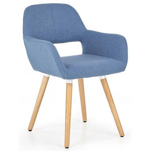 Zdjęcie produktu Krzesło tapicerowane Odeon - niebieskie.