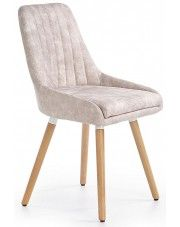 Krzesło drewniane Eadon - beżowe w sklepie Edinos.pl