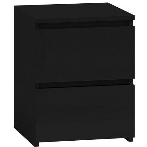 Zdjęcie produktu Lakierowana szafka nocna Siena 4X - czarny połysk.