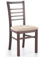 Krzesło drewniane Loren - ciemny orzech w sklepie Edinos.pl