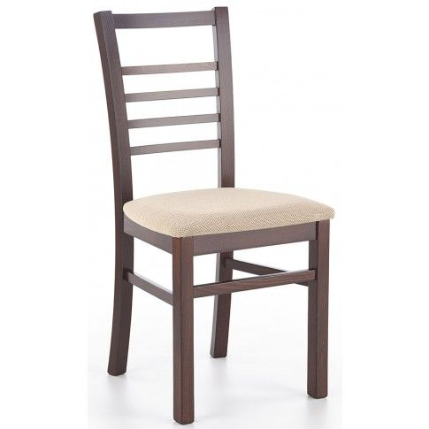 Zdjęcie produktu Krzesło drewniane Loren - ciemny orzech.