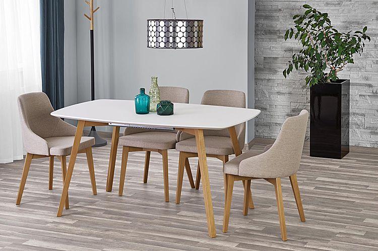 Jasnobeżowe krzesło tapicerowane Altex