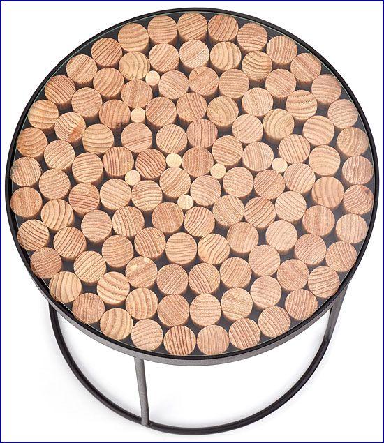 Okrągła ława szklana do salonu Turia 2X