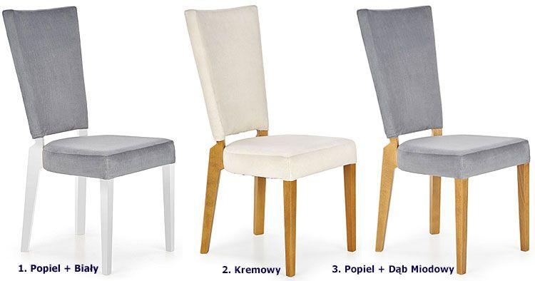 Drewniane krzesło tapicerowane Amols