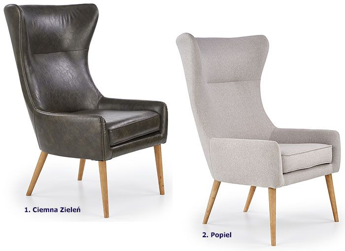 Tapicerowany fotel relaksacyjny do salonu Vixen