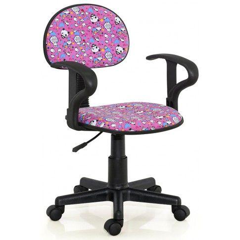 Zdjęcie produktu Fotel młodzieżowy Milo - różowy.