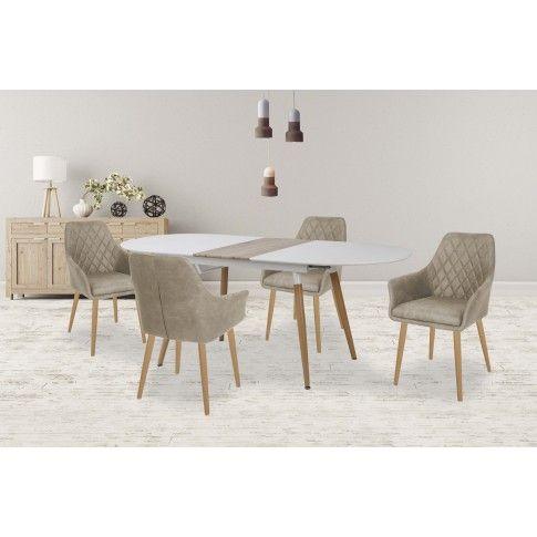 Zdjęcie produktu Rozkładany stół Santo - biały .