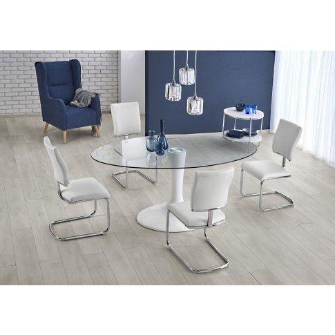 Zdjęcie produktu Szklany stół Ralf - biały.