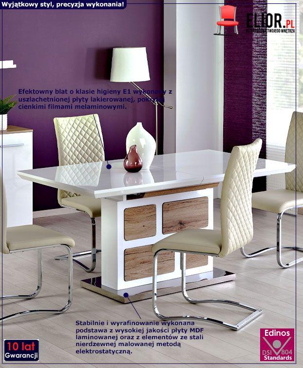 Rozkładany stół Magnus - biały
