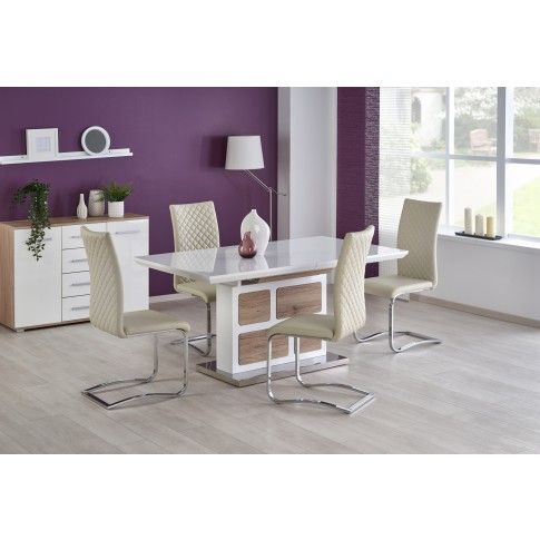 Zdjęcie produktu Rozkładany stół Magnus - biały .