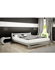 Łóżko drewniane Marsel 140x200 - popiel w sklepie Edinos.pl