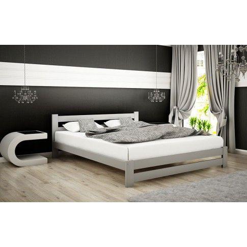 Zdjęcie produktu Łóżko drewniane Marsel 140x200 - popiel.