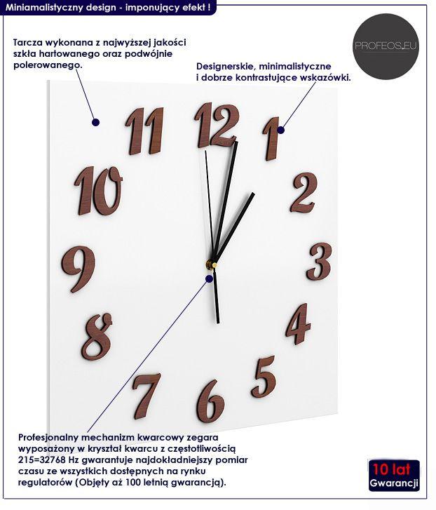 kwadratowy zegar ścienny Presto 40x40