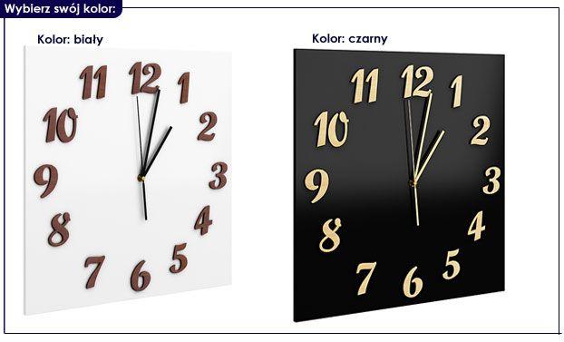 szklany zegar na ścianę Presto biały