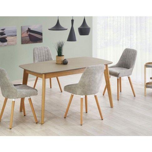 Zdjęcie produktu Minimalistyczny stół Varso - popielaty.