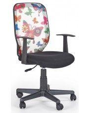 Fotel obrotowy dla dziewczynki Estor - motyle