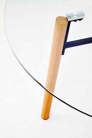Minimalistyczny stół Reon - buk