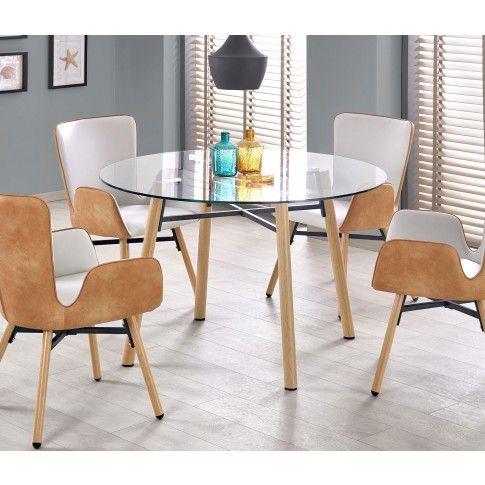 Zdjęcie produktu Szklany stół Reon - buk.
