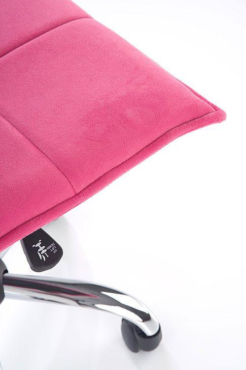 Różowe krzesło do komputera dla dziewczynki Lafix