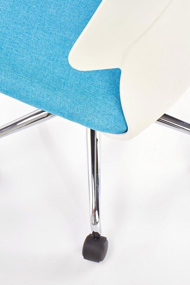 Niebieski fotel obrotowy młodzieżowy Eskan