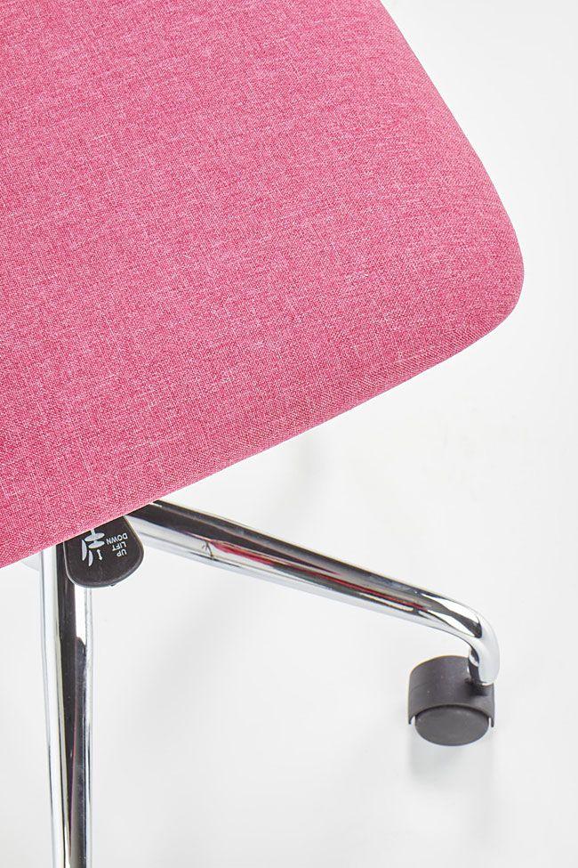 Różowy fotel obrotowy do pokoju dziecka Eskan
