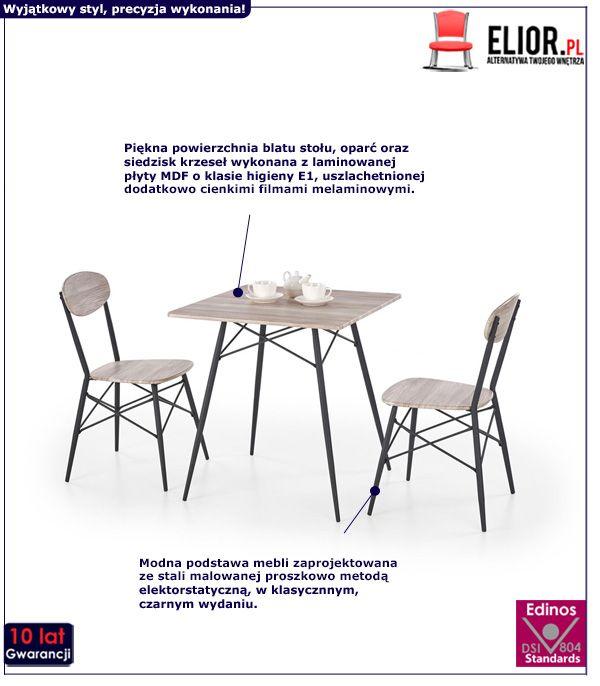 Nowoczesny zestaw stołowy Colien - kwadrat