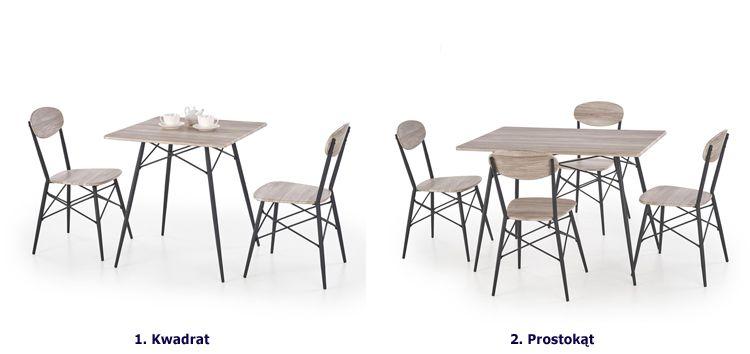 Modny zestaw stołowy Colien - dąb san remo