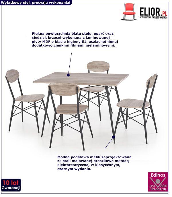 Zestaw stołowy Colien - prostokąt