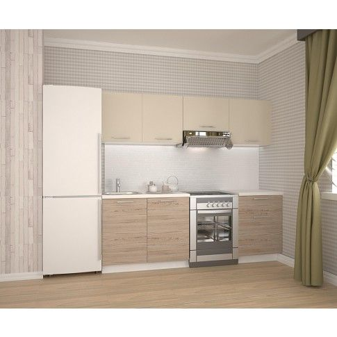 Zdjęcie produktu Zestaw mebli kuchennych Marea - beżowy.