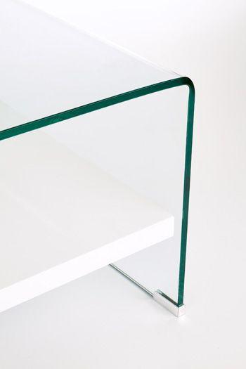 Nowoczesna ława Malia - szklana