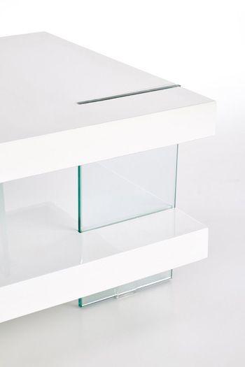 Piękna ława Lucia - szklana