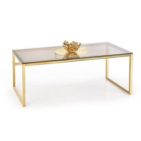 Zdjęcie produktu Gustowna szklana ława Goldea - złoto.