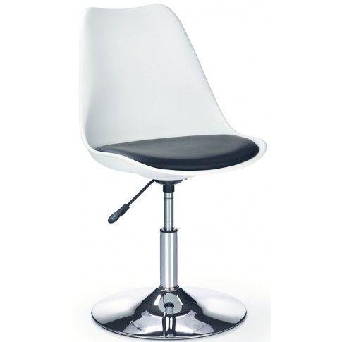 Zdjęcie produktu Fotel młodzieżowy Dafi - biało-czarny.