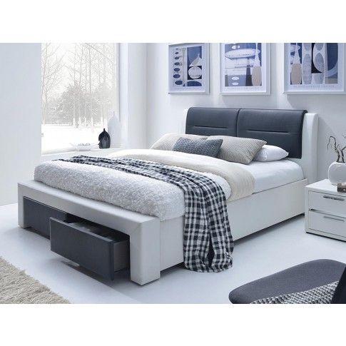 Zdjęcie produktu Łóżko Celine 140x200 - czarno - białe.