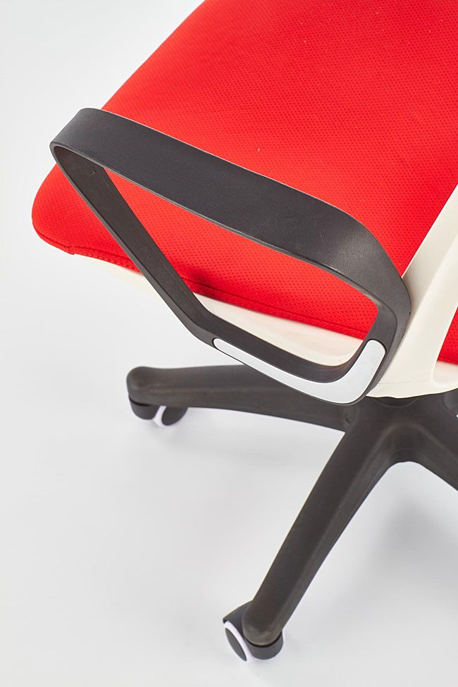 Młodzieżowy, czerwony fotel obrotowy do biurka Feris