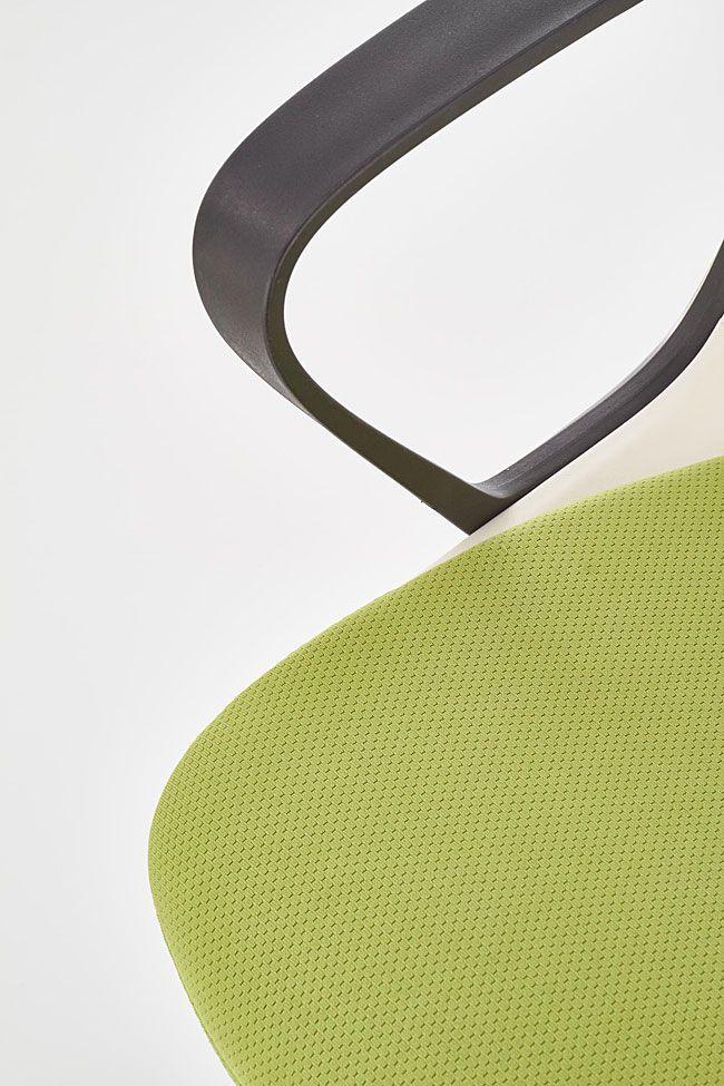 Młodzieżowe zielone krzesło do biurka Feris
