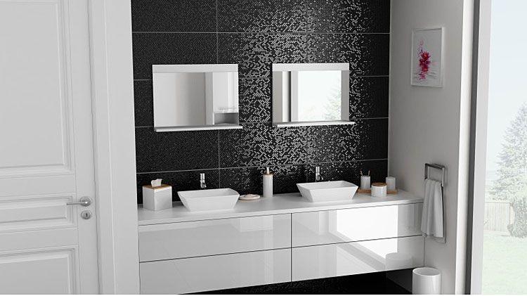 Białe lustro łazienkowe Lafis 2X