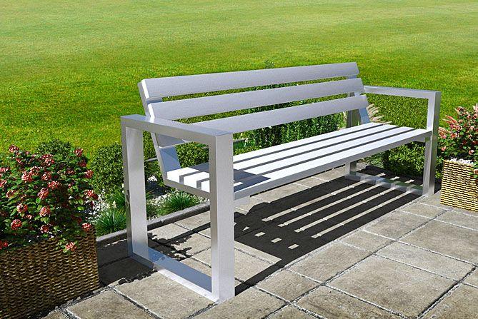 ławka ogrodowa biała