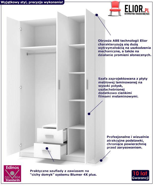 Pojemna szafa do sypialni Lines S3