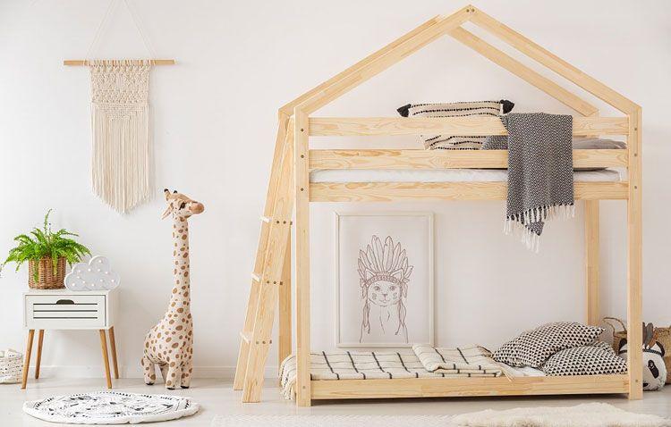 Młodzieżowe łóżko piętrowe drewniane Miles 7X