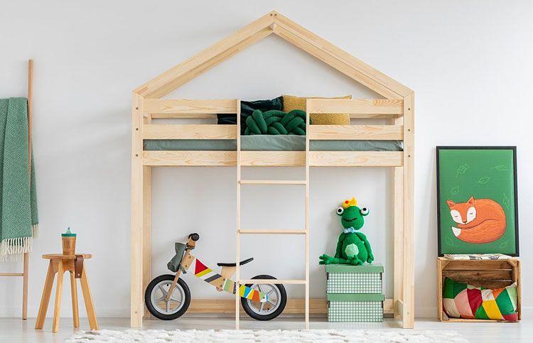 Drewniane łóżko piętrowe dla dziecka Miles 8X