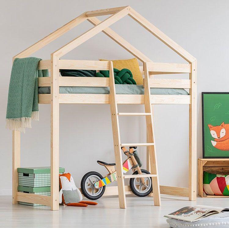 Piętrowe łóżko dziecięce domek Miles 8X