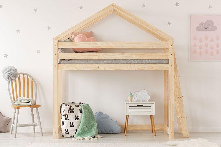 Drewniane łóżko piętrowe młodzieżowe Miles 9X