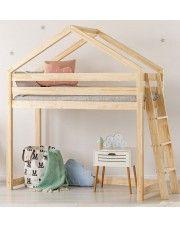 Piętrowe łóżko domek Miles 9X - 12 rozmiarów w sklepie Edinos.pl